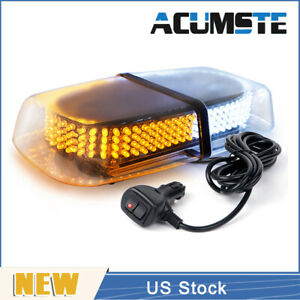 240 Led Emergency Warning Roof Top Strobe Snow Plow Light Car Amber White