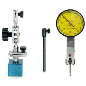 Universal Magnetic Flexible Base Holder Stand W lever Dial Test Indicator Gauge