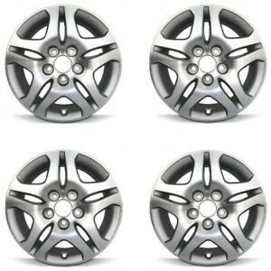 Set 4 16 Silver Replacement Wheel Fits 05 10 Honda Odyssey 16x7 5x120 50mm