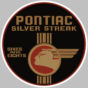 Pontiac Silver Streak Logo Decal Sticker Choose Size 3m Laminated Buy3get1free
