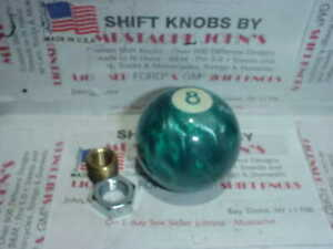 8 Ball Green Pearl Custom Shift Knob 2 made In The U s a
