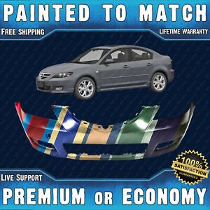 New Painted To Match Front Bumper Replacement For 2007 2009 Mazda 3 Sedan 07 09