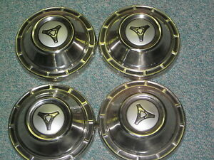4 Pcs Nos Mopar 1965 Dodge Hub Caps Hemi 426 413 383 361 318 225 Max Wedge
