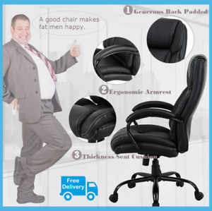 550 Lbs Heavy Duty High Back Big And Tall Desk Chair Executive Ergonomic Leather