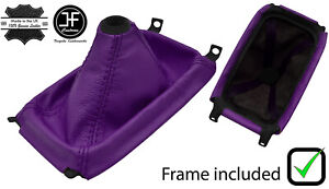 Purple Leather Shift Boot Plastic Frame Top Ring For Honda Crx Del Sol 92 98