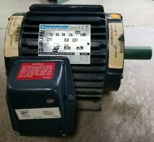 New Marathon 2 Hp Electric Ac Motor 208 230 460 Vac 1735 Rpm 145t Frame 3 Phase