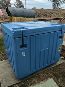 Insulated Hdpe Polar Blue Bin With Lid Fish Tote Dry Ice Storage Cooler
