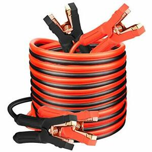 Jumper Cables Heavy Duty Booster Cables 0 Gauge X 25ft 0awg X 25ft 1000amp