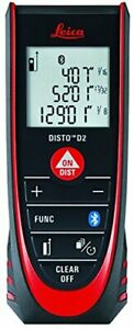 leica Disto D2 New 330ft Laser Distance Measure With Bluetooth 4 0 Black red
