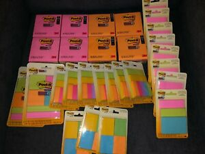 New Post it Notes Bundle 4 x4 flags 2 x2 3 x3 1 3 8 x1 7 8 Over 8000 Notes