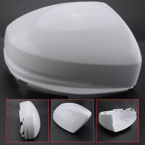 Right White Rear Mirror Cover Cap For Honda Fit Jazz 2014 2015 2016 2017 2018