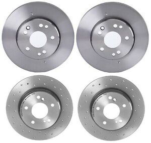 New Brembo Front And Rear Brake Disc Rotors Kit For Mercedes W124 300te 300td