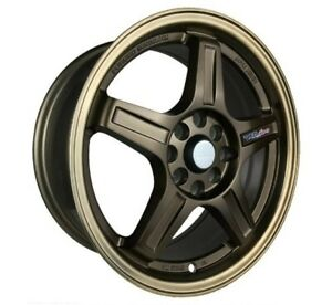 4pcs Ray 16inch 7j Et38 4x100 4x114 3 Alloy Wheel Cheap Car Rim Bronze B292s 7