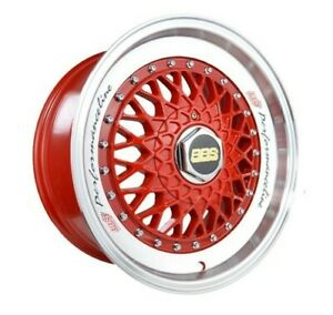 4pcs Bbs 16inch 7 5j Et30 4x100 4x114 3 Alloy Wheel Cheap Car Rim Red 166 7