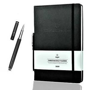 Christian Daily Planner 2020 7 X 10 Weekly Monthly Planner W Metal Pen