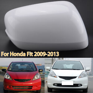 Right White Rear Mirror Cover Cap For Honda Fit Jazz 2009 2010 2011 2012 2013