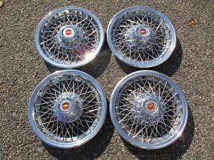 1977 To 1980 Chevy Impala Wire Spoke 15 Inch Factory Hubcaps Wheel Covers