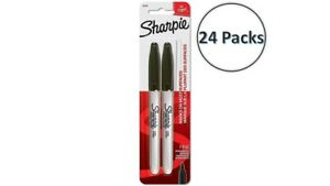 30001 Sharpie Fine Point Markers Black Permanent Ink 24 Packs Of 2 Markers