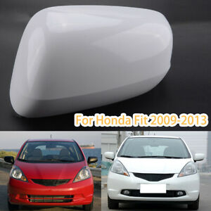 Left White Rear Mirror Cover Cap For Honda Fit Jazz 2009 2010 2011 2012 2013