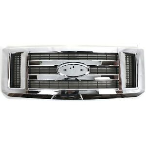 Front Chrome Grille For 2008 2014 Ford Econoline Van E150 E250 E350 Sd E450 Sd