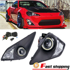 Fit 13 16 Scion Fr S Clear Lens Projector Fog Corner Signal Lights Led Halo Ring