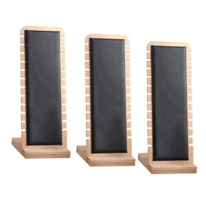 3x Black Elegant Necklace Display Stand Retail Chain Holder Leather Surface