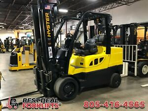 7x Refurbished 2016 Hyster S100ft Lpg Forklifts 3 Stage 10000lb Low Hours