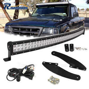 For Ford Ranger Roof Upper 50 Curved Led Light Bar Upgrade Mounting Wire Kit