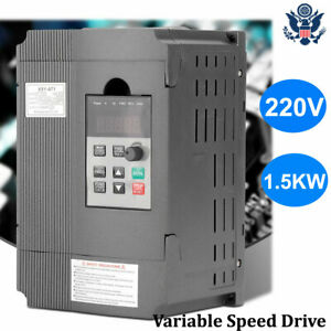 1 5kw Vfd 8a 220v Single phase Variable Speed Drive Inverter Motor Drive New