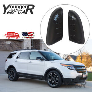 For 2011 2012 2013 2014 2015 Ford Explorer Gloss Black Top Half Mirror Covers