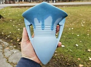 Art Deco Roseville Carnelian I Art Deco Blue Drip Glaze Art Pottery Wall Pocket