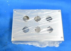 Wiegmann Pbss06 Pushbutton Enclosure Stainless Steel With 6 Entrance Holes