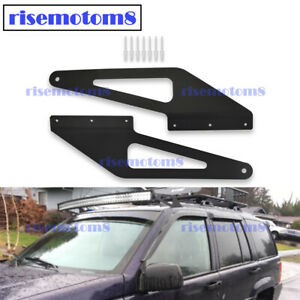 For Jeep Grand Cherokee Zj 50 Roof Curved Light Bar Custom Upgrade Mount Kit