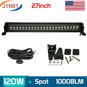 27 120w Led Light Bar Flash Truck Suv Strobe Offroad Driving Tractor wiring Kit