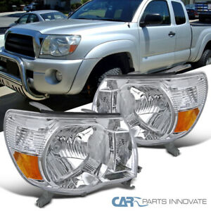 For Toyota 05 11 Tacoma Replacement Headlights Clear Head Lamps Set Left Right