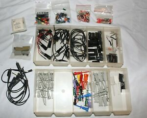 Large Lot Of Hp Tektronix Test Probes Clips Leads Adapters And Accessories