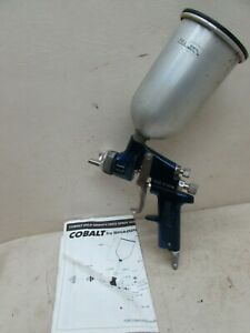 Vintage Cobalt Sharpe Gravity Feed Hvlp Paint Spray Gun Auto Body Shop