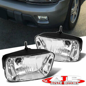 Chrome Replacement Driving Fog Lights Lamps Bulbs For 2002 2009 Trailblazer