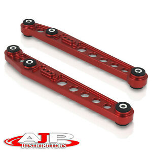 Red Jdm Aluminum Rear Lower Control Arms Kit Lca For 1996 2000 Honda Civic Ek