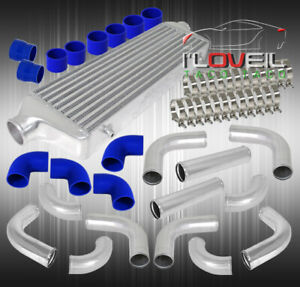 12pcs Bar And Plate Intercooler 3 Turbo Piping Pipe Kit Coupler Clamps