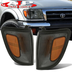 Fits Toyota Tacoma 97 00 2wd Smoke Housing Corner Lights Turn Signal Marker Lamp