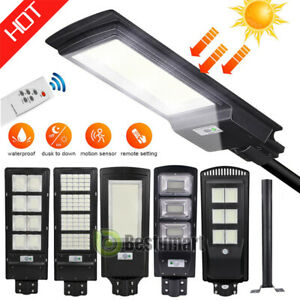 1600000LM Solar LED Street Light Commercial Outdoor IP67 Area Security Road Lamp $73.81