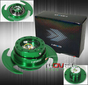 Nrg Srk 650gn 3 0 Steering Wheel Quick Release Adapter Security Ball Lock Green