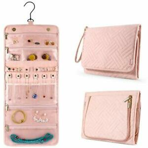 Ipow Jo01 Travel Jewelry Organizer Roll Case Holder For Necklace Earrings Rings