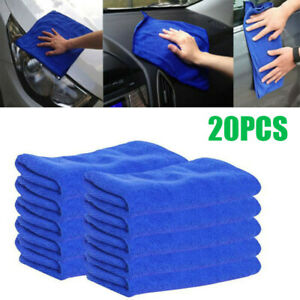 20pcs Car Microfiber Cloth Absorbent Wash Cleaning Auto Polish Towel Kit