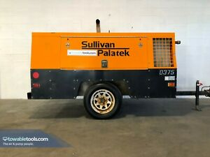 2011 Sullivan Palatek D375h 375 Cfm Tow Behind Portable Diesel Air Compressor