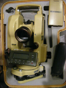 Northwest Digital Transit Theodolite Neth10 With Tripod In Excellent Condition