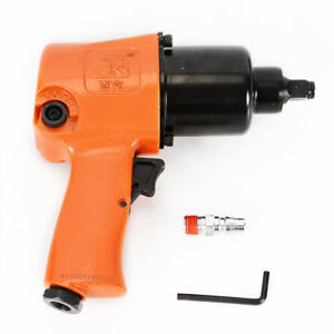 Air Impact Wrench Tool Gun 1 2 Squar Drive 1 4 Npt Air Inlet 90psi Twin Hammer