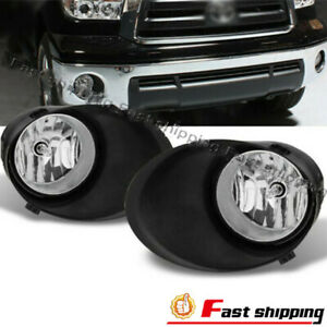 Fits 2007 2013 Toyota Tundra Bumper Lh rh Fog Lights Clear Lens Lamps W 2 Covers