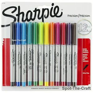 Sharpie Ultra Fine Permanent Markers 12 Set Assorted Colors 37175